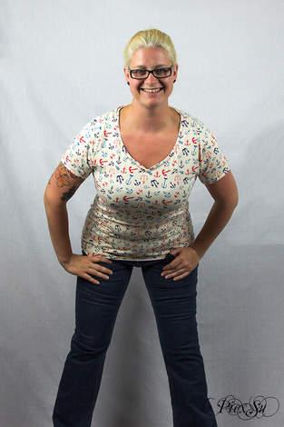 Makerist - Sunny als Shirt mit Wavekragen und geschlossenem Rückenteil - 1