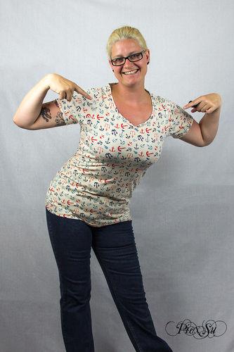 Makerist - Sunny als Shirt mit Wavekragen und geschlossenem Rückenteil - Nähprojekte - 2
