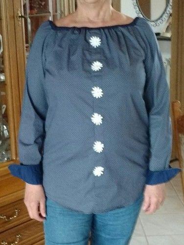 Makerist - Sommerbluse habe ich aus einem Hemd genäht  - Nähprojekte - 1