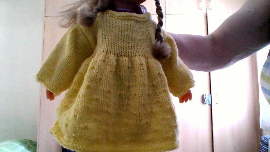 Makerist - petite robe poupée - Créations de tricot - 1