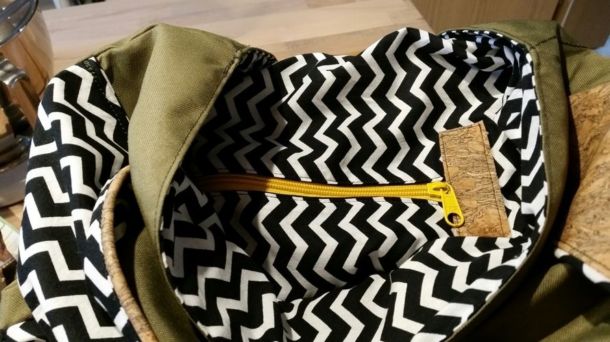 Makerist - Rucksack aus Kork und Teflon - Nähprojekte - 3