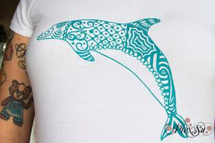 Makerist - Delphin aus dem Plotterdatei Set Mitten im Meer - 1