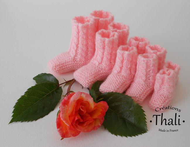 Makerist - Chaussons bouton de rose, pour prématuré - Créations de tricot - 3