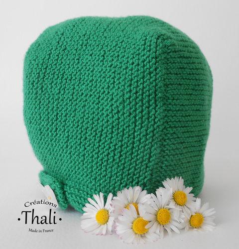 Makerist - Béguin pâquerette, bonnet bébé - Créations de tricot - 2