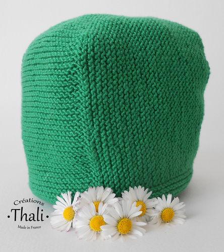 Makerist - Béguin pâquerette, bonnet bébé - Créations de tricot - 3