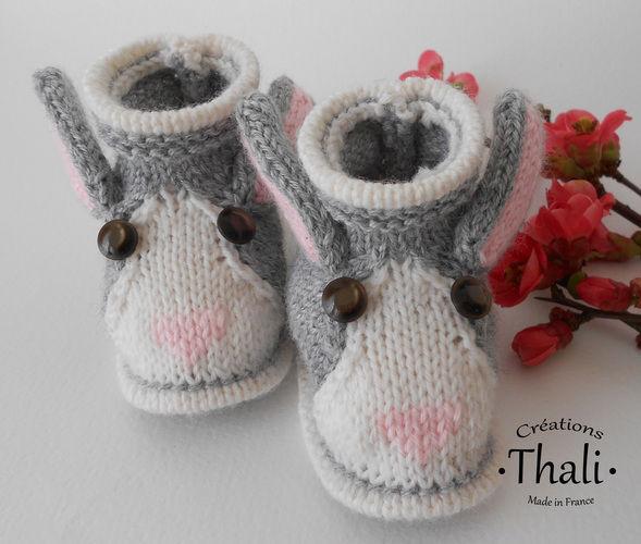 Makerist - Chaussons lapin, pour bébé - Créations de tricot - 1