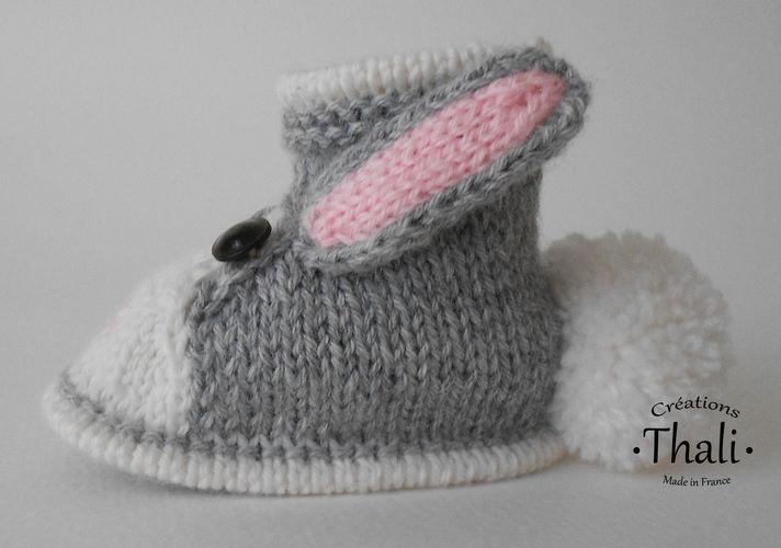 Makerist - Chaussons lapin, pour bébé - Créations de tricot - 3