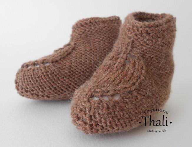 Makerist - Chaussons feuille, pour bébé - Créations de tricot - 1