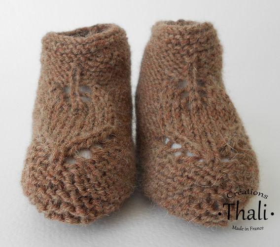 Makerist - Chaussons feuille, pour bébé - Créations de tricot - 2