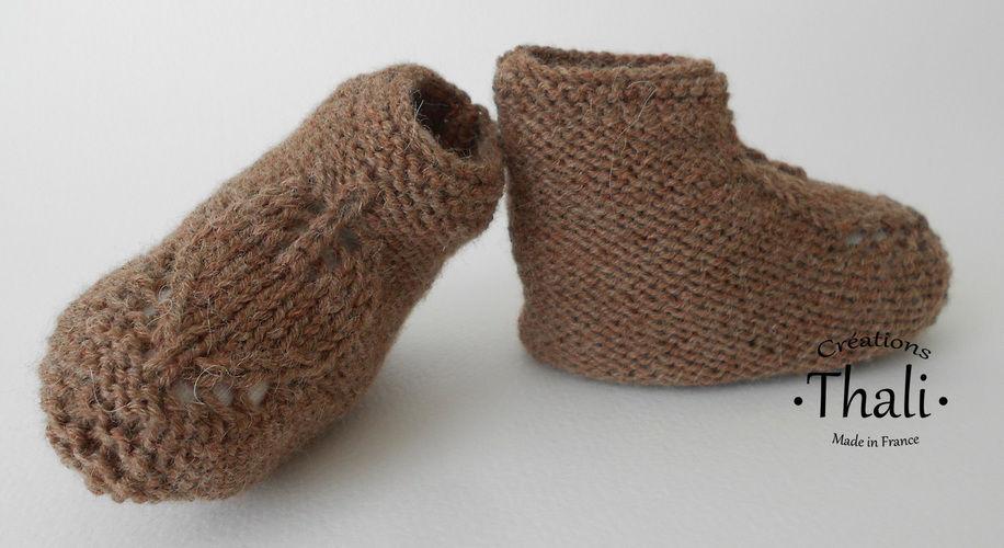 Makerist - Chaussons feuille, pour bébé - Créations de tricot - 3