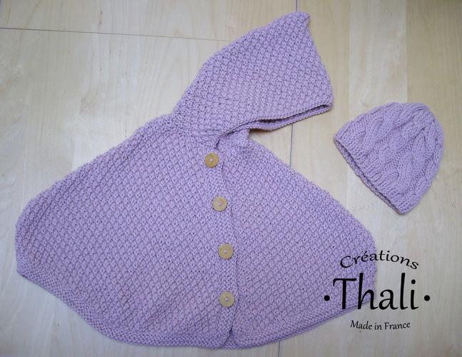 Makerist - Cape à capuche en taille 1an - Créations de tricot - 1
