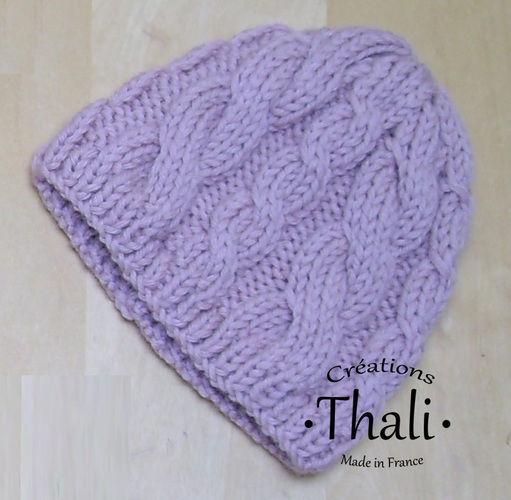 Makerist - Bonnet bébé en torsade - Créations de tricot - 1