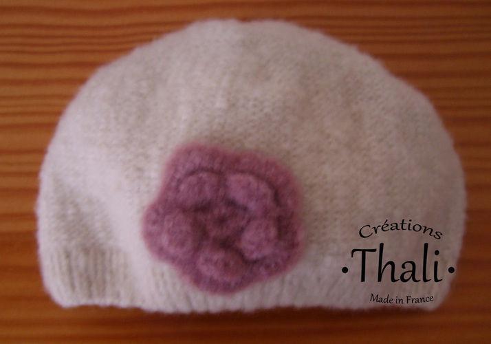 Makerist - Bonnet fleur, bébé - Créations de tricot - 1