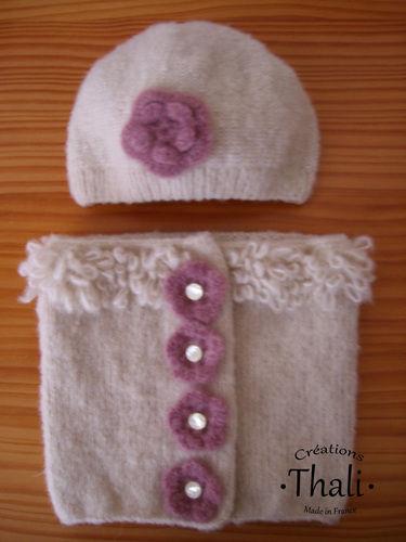 Makerist - Bonnet fleur, bébé - Créations de tricot - 2