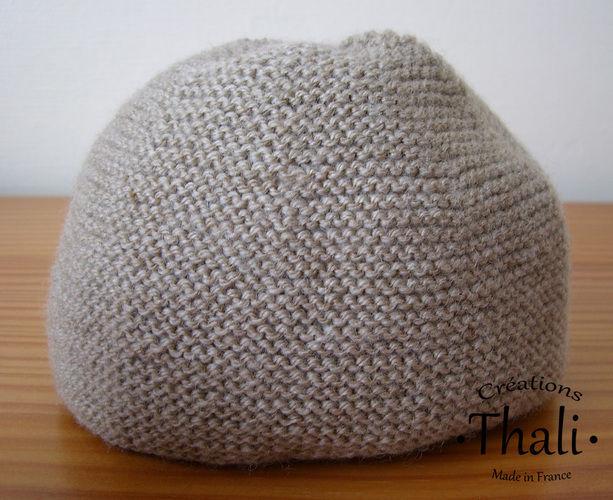 Makerist - Bonnet au point mousse, pour bébé - Créations de tricot - 1