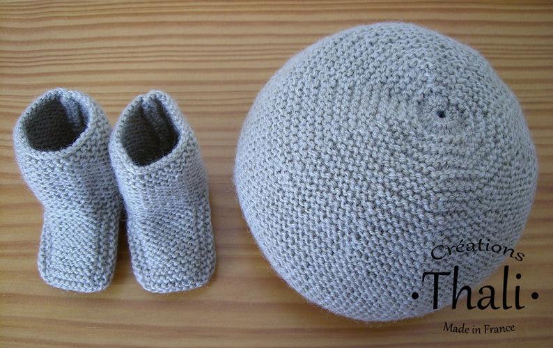 Makerist - Bonnet au point mousse, pour bébé - Créations de tricot - 3