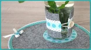 Filz Glaswärmer und Platzdeckchen DIY