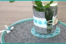 Makerist - Filz Glaswärmer und Platzdeckchen DIY - 1