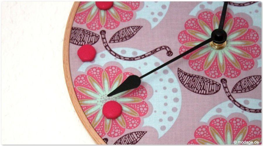 Makerist -  Stickrahmen-Uhr - DIY-Projekte - 1
