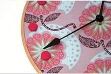 Makerist -  Stickrahmen-Uhr - 1