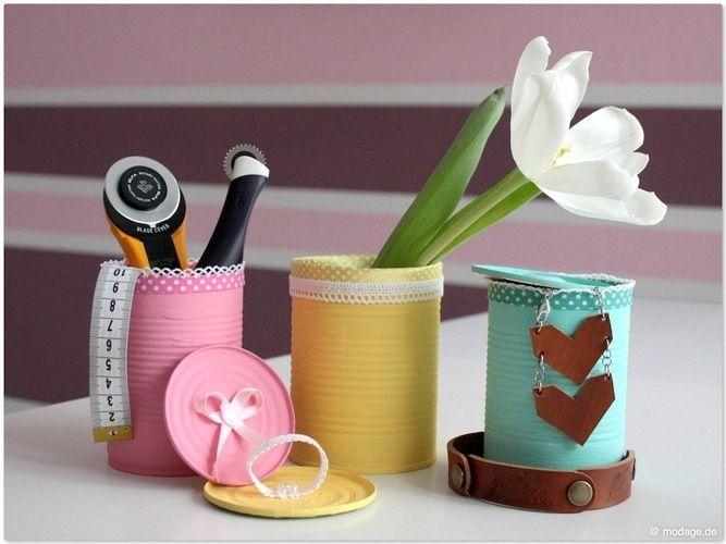 Makerist -  Upcycling: Konservendosen aufhübschen - DIY-Projekte - 1