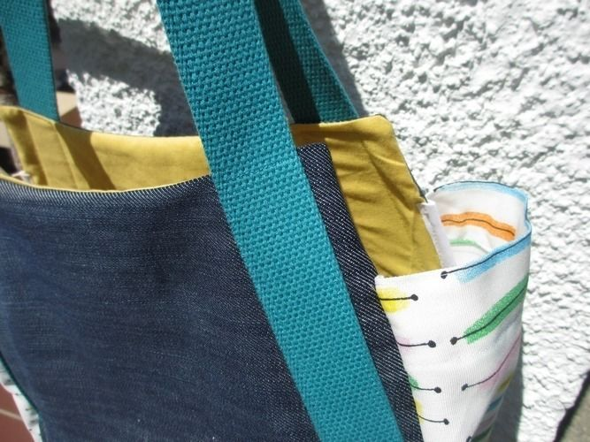 Makerist - Jeans Upcycling - eine Sommer-Bade-Tasche - Nähprojekte - 2