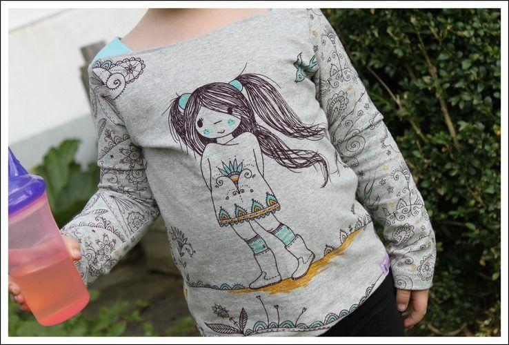 Makerist - Shirt Marlene mit Manga-Girl´s - Nähprojekte - 1