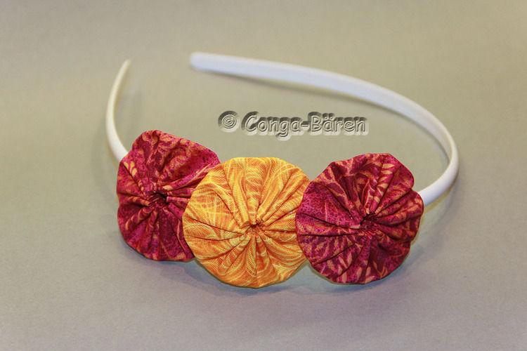 Makerist - DIY - Yoyo-Blume mit dem Yoyo-Maker / Yoyo-Schablone - Nähprojekte - 1