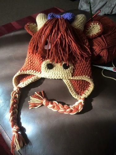 Makerist - Highland Coo Hat - Crochet Showcase - 2