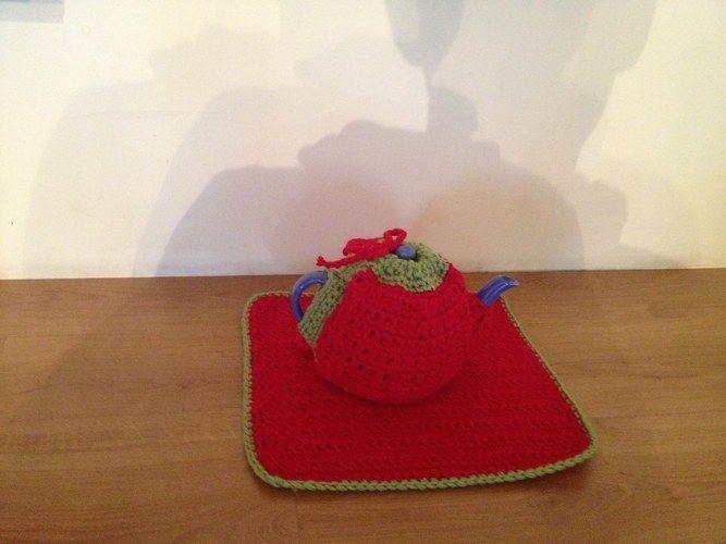Makerist - ensemble set et couvre théière - Créations de crochet - 1