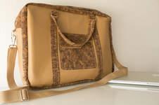 Makerist - Notebooktasche aus Kork und Leder - 1