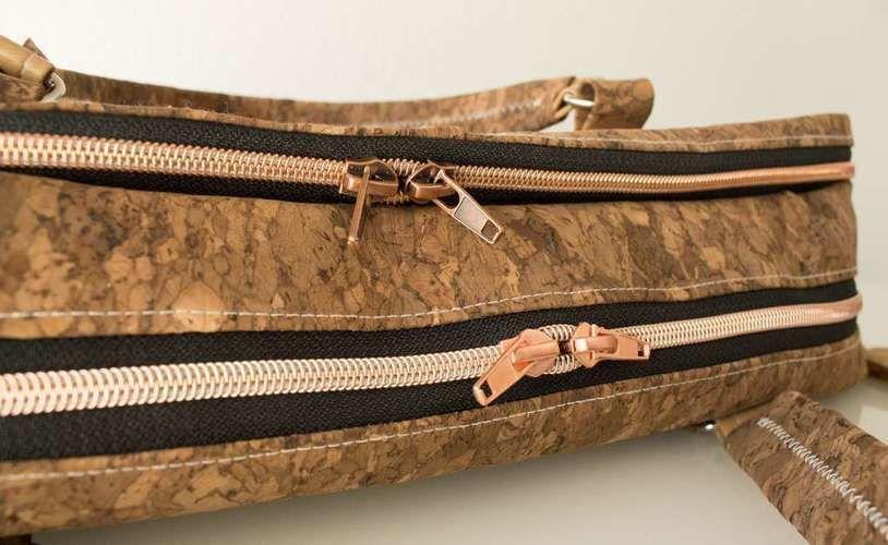 Makerist - Notebooktasche aus Kork und Leder - Nähprojekte - 2