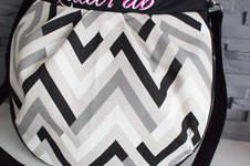 Makerist - Hobo-Bag von Pattydoo mit Chevron-Streifen und Plottmotiv - 1