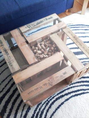 Couchtisch aus Weinkisten // Upcycling