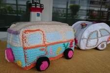 Makerist - Hippie Bus mit Wohnwagen - 1