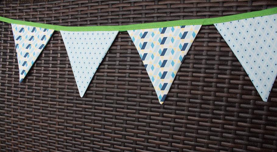 Makerist - Mini-DIY: eine Wimpelkette nähen - Nähprojekte - 1