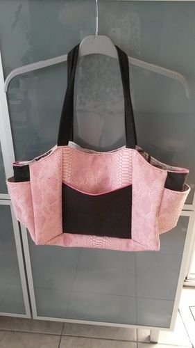 Makerist - Sac Emma en simili croco rose - Créations de couture - 1