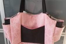 Makerist - Sac Emma en simili croco rose - 1