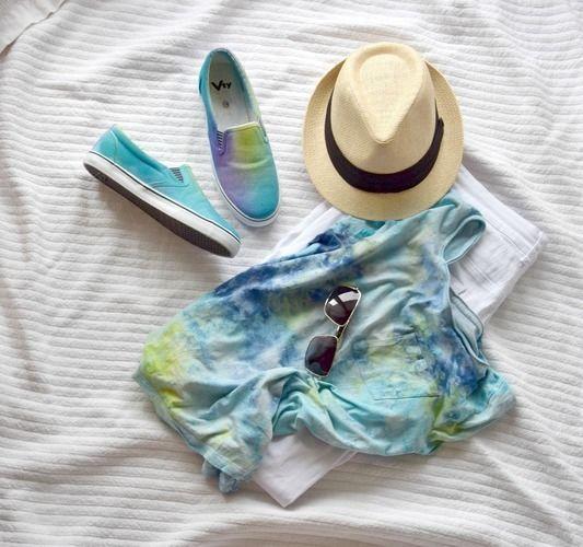 Makerist - Shirt & Schuhe selbst gefärbt - Textilgestaltung - 2