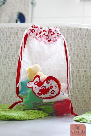 Makerist - Badespielzeug-Tasche aus Tüll - 1