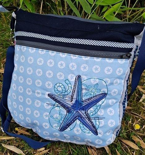"""Makerist - Sommertasche """"Skippy"""", Baumwolle, bestickt, für mich - Nähprojekte - 1"""