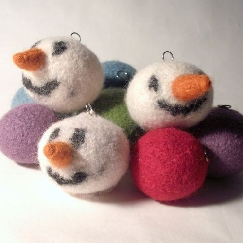 Makerist - Snowman Christmas Bauble - Knitting Showcase - 2