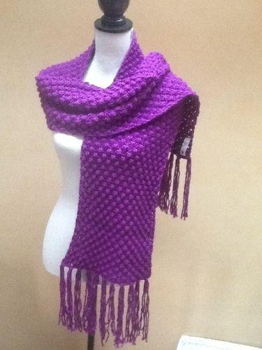 Makerist - Grande Echarpe violette  - Créations de tricot - 1