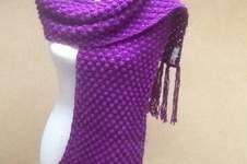 Makerist - Grande Echarpe violette  - 1