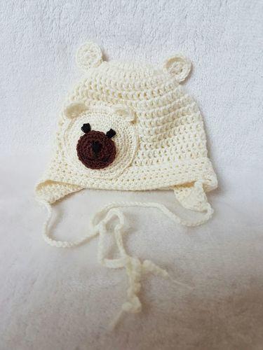 Makerist - Bären-Erstlingshaube. - Häkelprojekte - 1