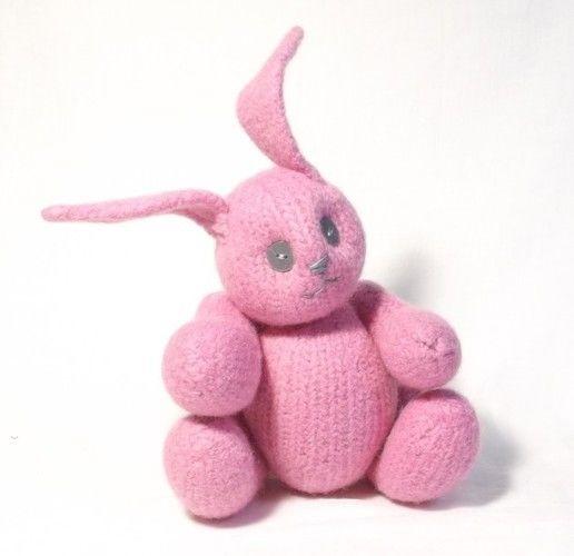 Makerist - Pink Felt Bunny  - Knitting Showcase - 1