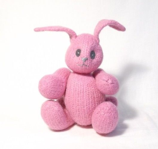 Makerist - Pink Felt Bunny  - Knitting Showcase - 2