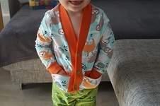 Makerist - frecher Faultier Cardigan für Kids - 1