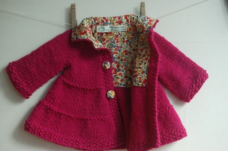 Makerist - Liberty-lined tiered baby coat - Knitting Showcase - 1