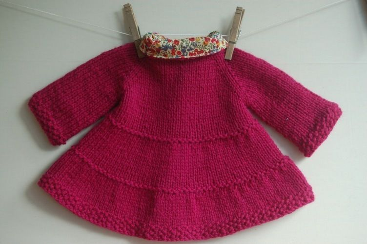Makerist - Liberty-lined tiered baby coat - Knitting Showcase - 2